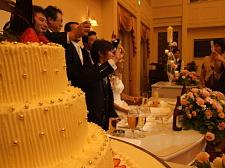 ウエディングケーキと